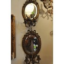 103- Pr bronze mirrors sconces