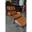121-Eames style chairs and ottoman