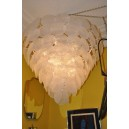 273- Murano chandelier with opalescent disks