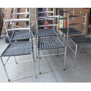 315- 6 Gio Ponti metal chairs
