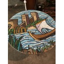 321- Glass mosaic table  1940's