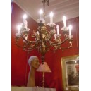 87- Gas chandelier converted to electricity