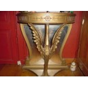 97- Carved wood console table